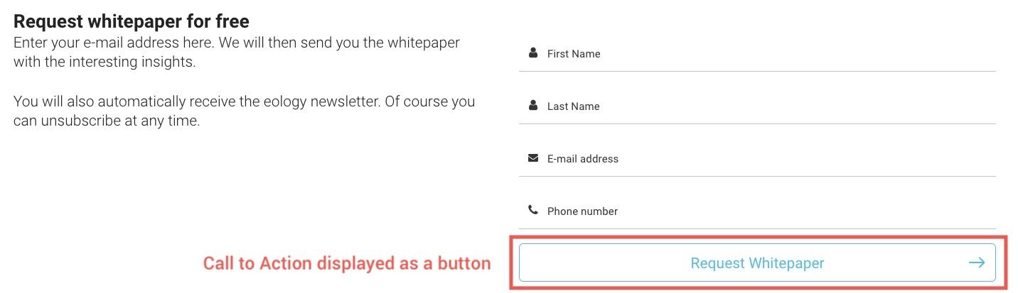 Representation of a Call to Action as a button